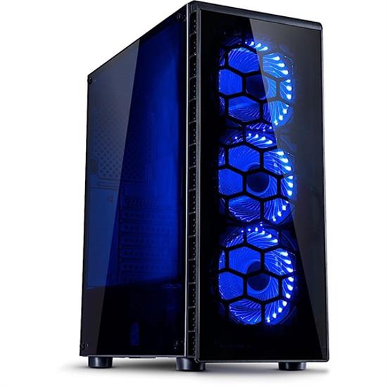 Picture of InterTech ATX Midi CXC2 Blue w/o PSU
