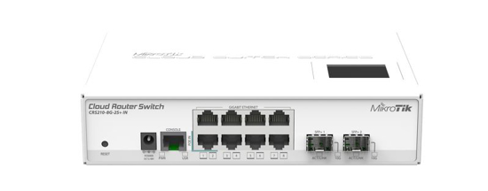 Picture of Mikrotik CRS210-8G-2S+IN