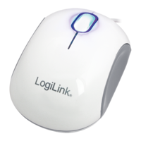 Picture of LogiLink Cooper - Mini Optical USB Mouse, 1000 dpi, White/Grey