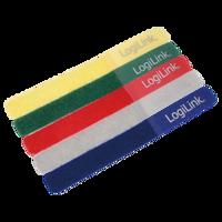 Picture of Logilink čičak trakice za vezivanje kablova, 5 boja
