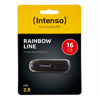 Picture of INTENSO USB flash 2.0 16GB Rainbow Line black