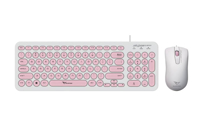 Picture of SONICGEAR ALCATROZ Jellybean U2000 White Peach Combo + miš