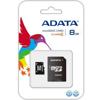 Picture of AData 8GB Micro SD + Adapter AUSDH8GCL4-RA1