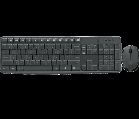 Picture of Logitech MK235 Wireless Desktop USB Gray US, New
