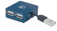 Picture of Manhattan USB 2.0 Hub 4-Port, napajanje USB, Plavi