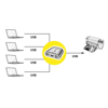 Picture of Secomp Value Manual USB 2.0 Printer Switch, 4 Ports