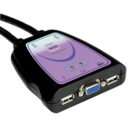 "Picture of Secomp Value KVM Switch ""Star"" 1 User - 2 PCs, VGA, USB"