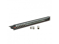 "Picture of Secomp Keystone 19"" 24Ports shielded black bez modula"
