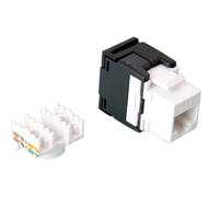Picture of Secomp Value Keyst. Jack, UTP, RJ45, Cat6, 180°, toolless, white