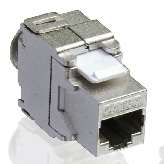 Picture of Secomp Value Keystone Jack, Cat6a, STP, toolless, silver