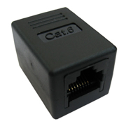 Picture of Secomp Value RJ45 Coupler Cat6, UTP, black