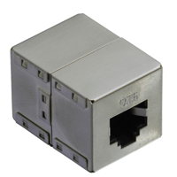Picture of Secomp Value RJ45 Modular Coupler, Cat6, STP, shielded, silver