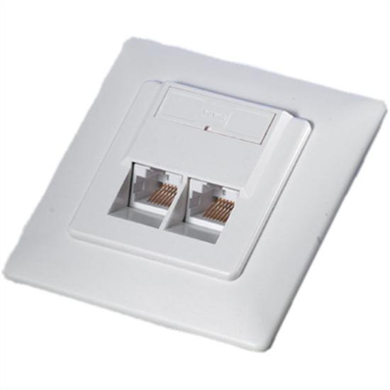 Picture of Secomp Value uzidna utičnica Cat6 UTP 2XRJ45, white