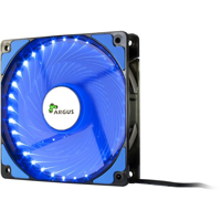Picture of InterTech Fan Argus L-12025 BL, 120mm LED, Blue