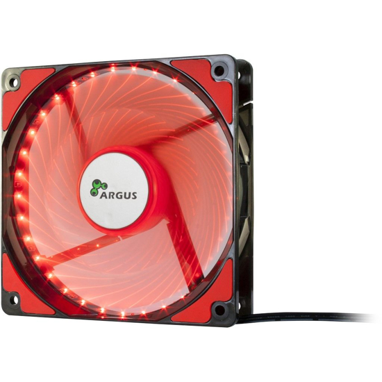 Picture of InterTech Fan Argus L-12025 RD, 120mm LED, Red