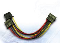 Picture of InterTech AC Adapter 1x 4pin Molex na 2x 4pin Molex, 0.15m