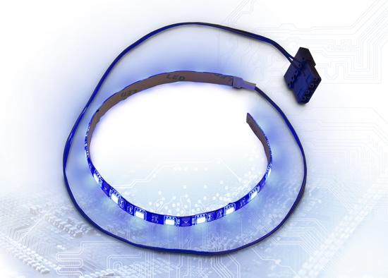 Picture of InterTech AC LED Traka 30cm, Molex, Plava LEDs