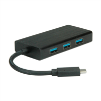 Picture of SECOMP VALUE USB 3.1 Gen 2 Type C to Gigabit Ethernet Converter + Hub 3x USB 3.1