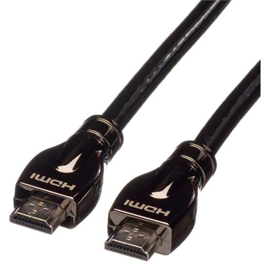 Picture of Secomp ROLINE HDMI Ultra HD Cable + Ethernet, M/M, black, 15.0 m