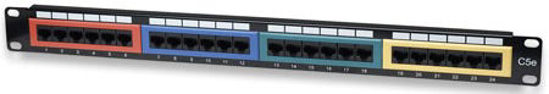 """Picture of INTELLINET 19"""" Patch Panel, CAT5e, UTP, 24 Port"""