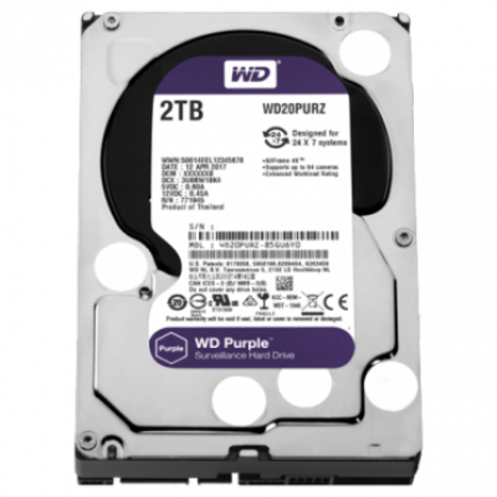 """Picture of WD HDD 2TB 3.5"""" Purple"""