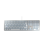 Picture of Cherry KC-6000 Slim tastatura, USB, bela/srebrna
