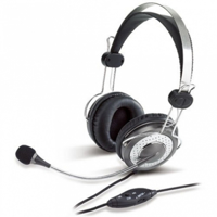 Picture of Genius HS-04SU Black-Silver Headset with Noise-Canceling microphone