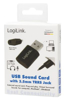 Picture of USB Audio Adapter black 1x3.5mm
