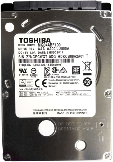 """Picture of Toshiba HDD 1TB 2.5"""" MQ04ABF100"""