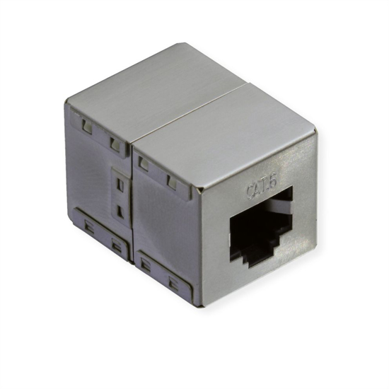 Picture of Secomp Value RJ45 Modular Coupler Cat6, STP, shielded, silver