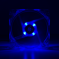 Picture of LogiLink Ventilator 120x120x25 mm, 4x LED, plava