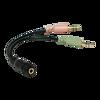 Picture of LogiLink Audio adapter 4-pin ženski 3.5 mm stereo na 2 x 3.5mm muški