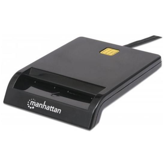 Picture of Manhattan Smart Card Reader USB 2.0 Black Retail box 102049