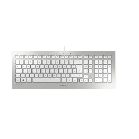 Picture of Cherry Strait 3.0 tastatura, USB, YU, bela