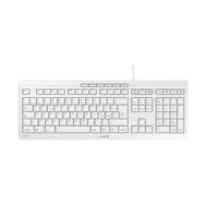Picture of Cherry Stream Ultra tiha vodootporna tastatura, USB, YU, bela