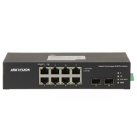 Picture of HIKVISION 10-port Industrial switch 6xGb PoE 2xHiPoE 2xGb SFP DS-3T0510HP-E/HS